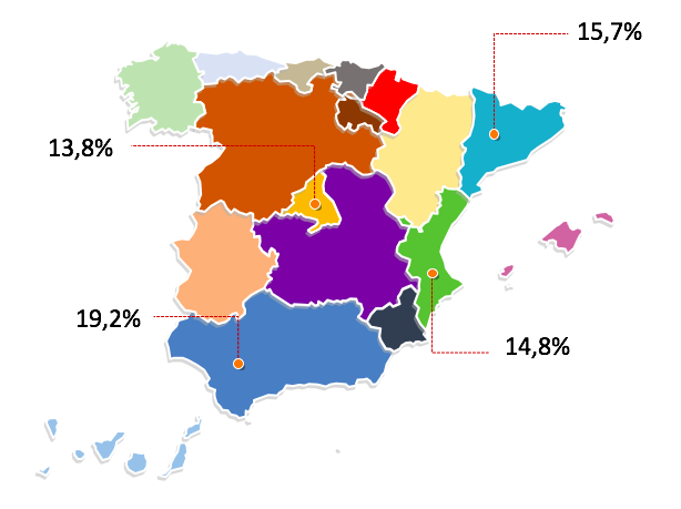 Article 1: How were the Total Number of Real Estate Property Transactions in Spain distributed by Autonomous Communities in 2019?
